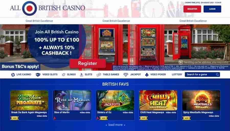 all british casino - homepage