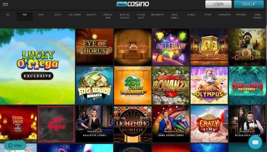 hello casino - games