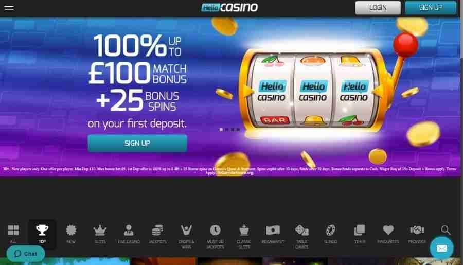 hello casino - homepage