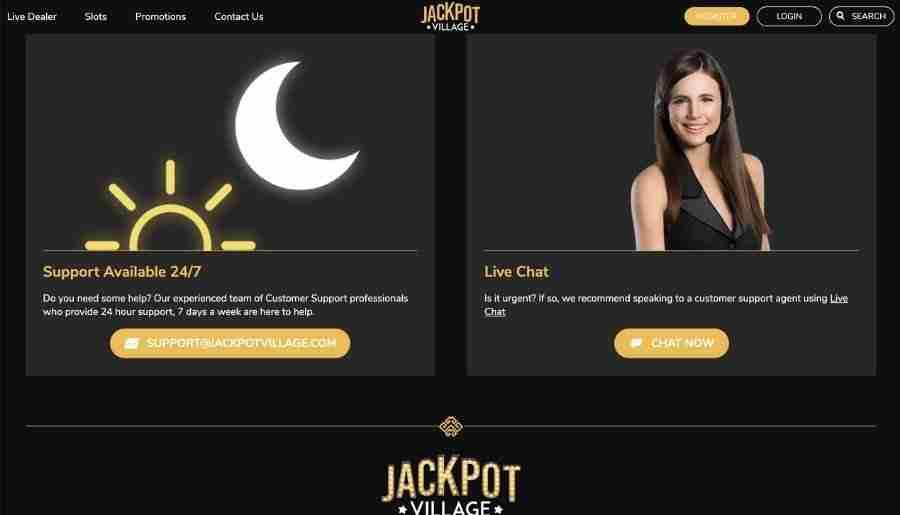 jackpot village casino - customer support
