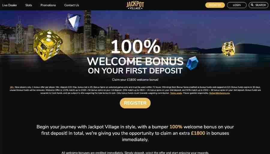 jackpot village casino - deposit bonus