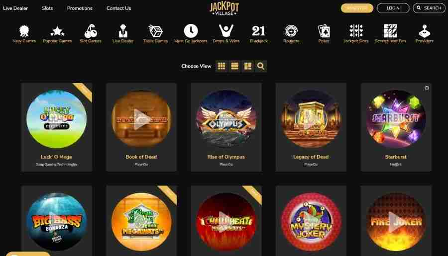 jackpot village casino - games