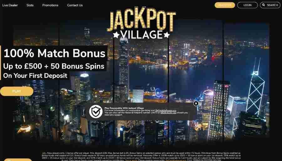 jackpot village casino - homepage