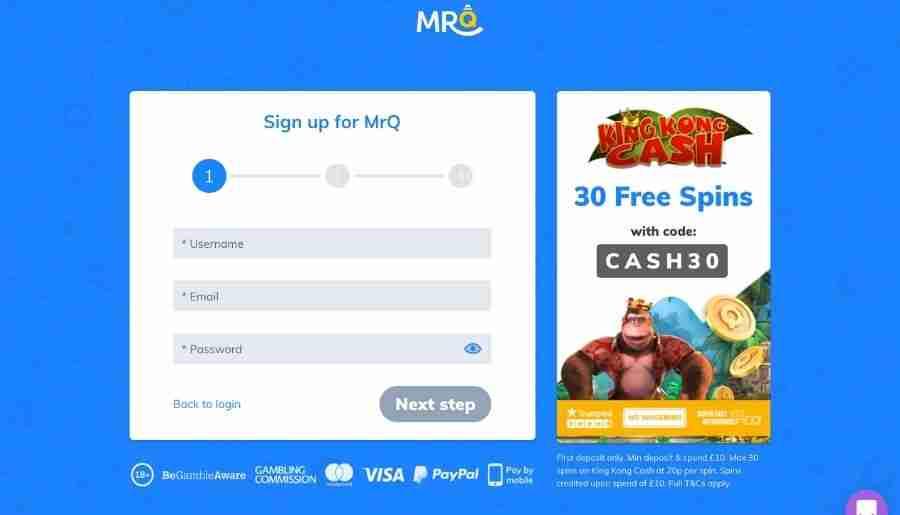 mrq casino - registration
