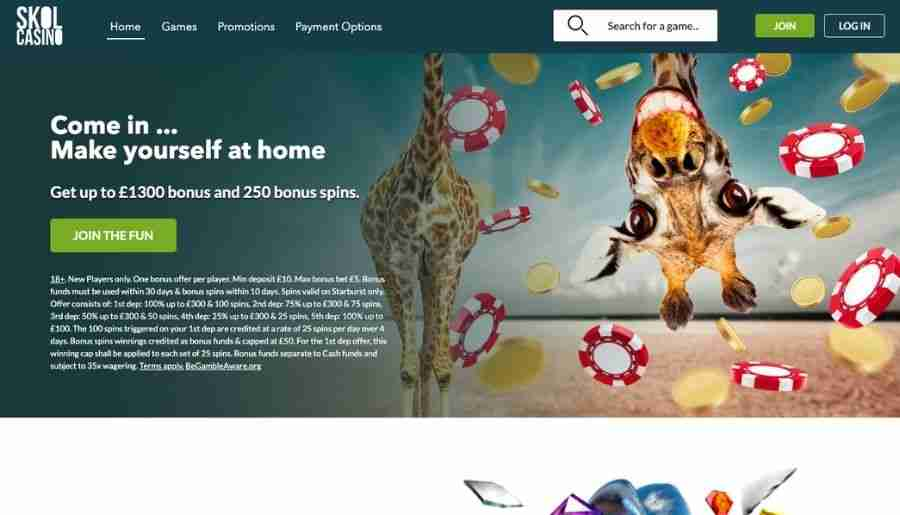 skol casino - homepage