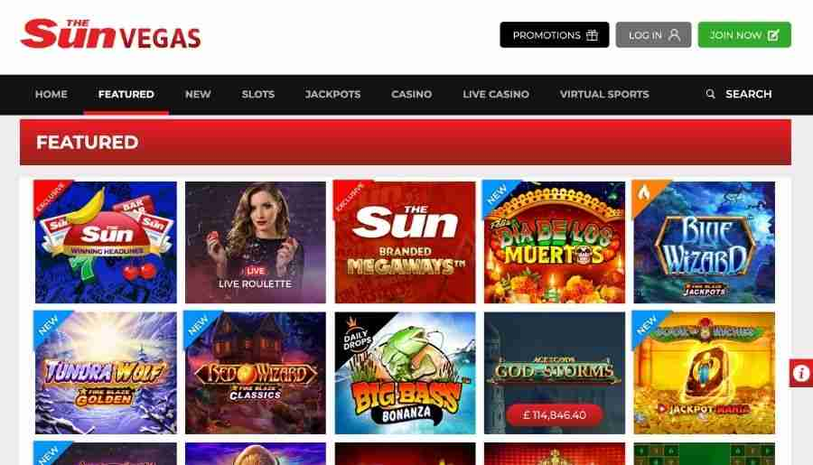 sun vegas casino - games