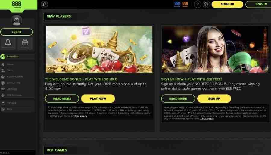 888 casino - promotions