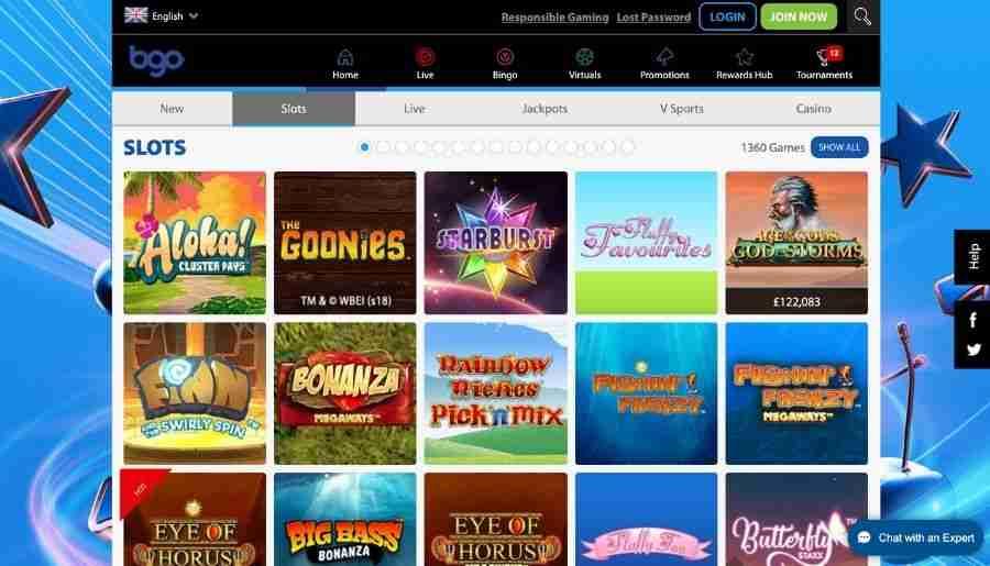 bgo casino - games