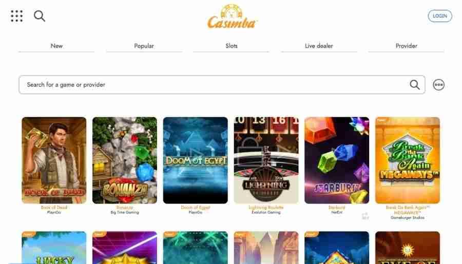 casimba casino - games