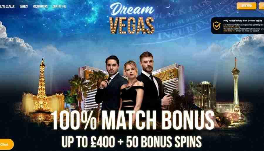 dream vegas casino - homepage