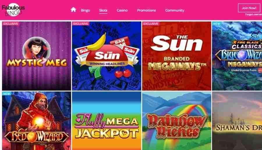 fabulous bingo - casino games