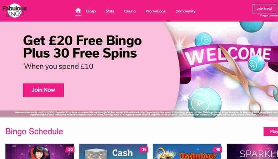 fabulous bingo - homepage