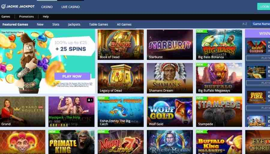 jackie jackpot casino - games