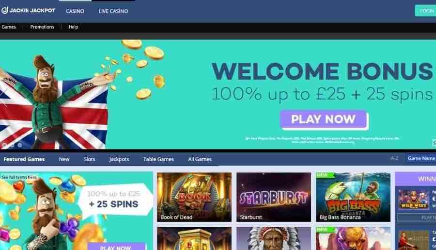 jackie jackpot casino - homepage