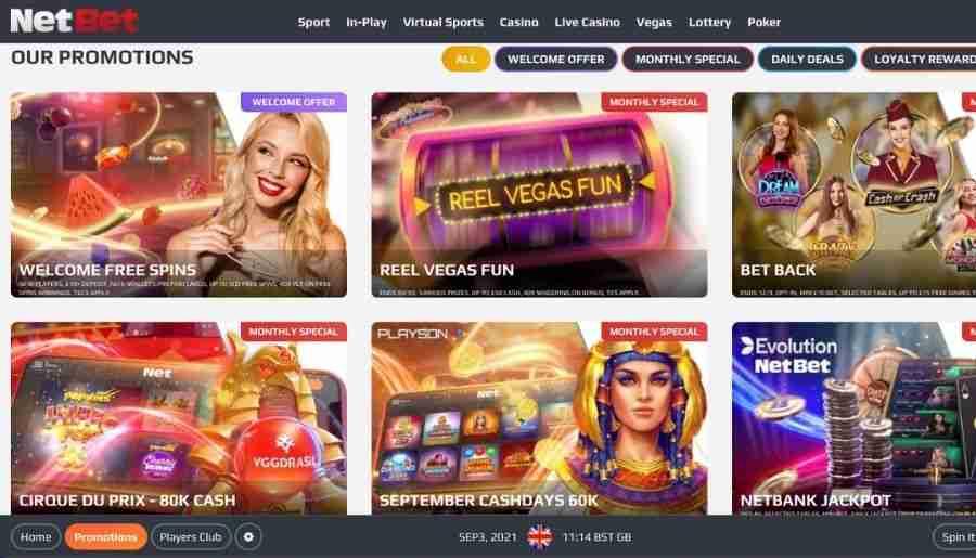 netbet casino - bonuses