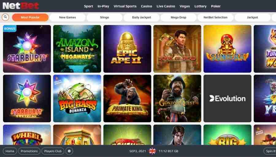 netbet casino - games