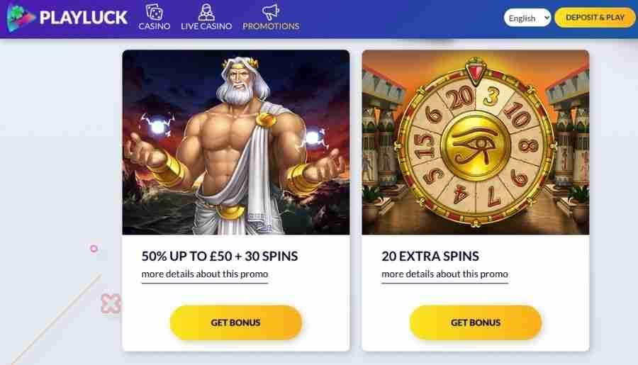 playluck casino - bonuses