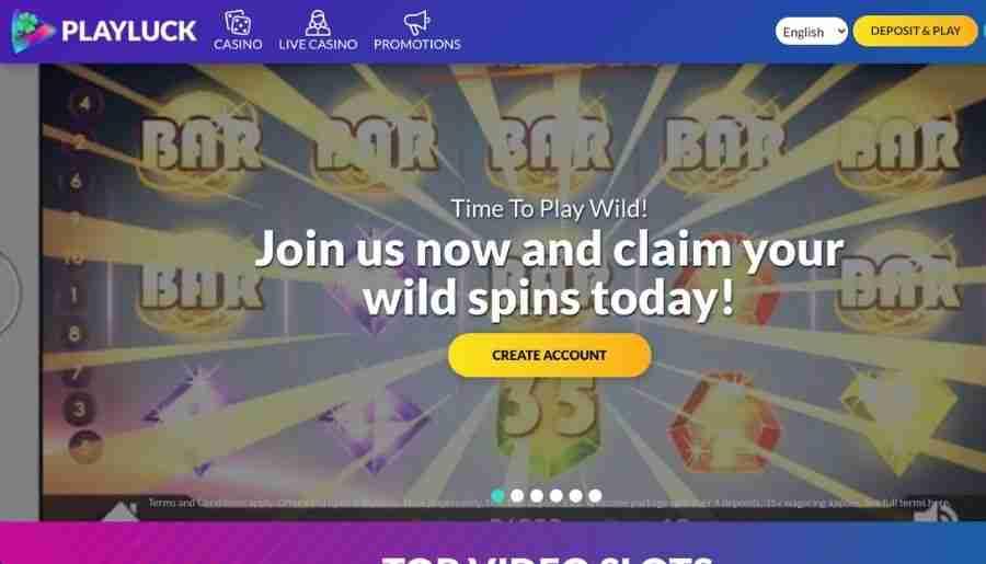 playluck casino - homepage
