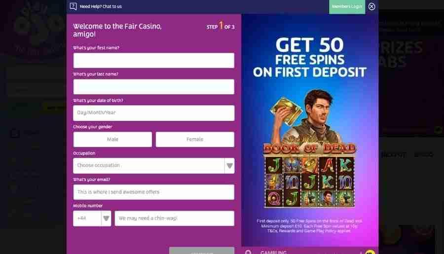 playojo casino - registration
