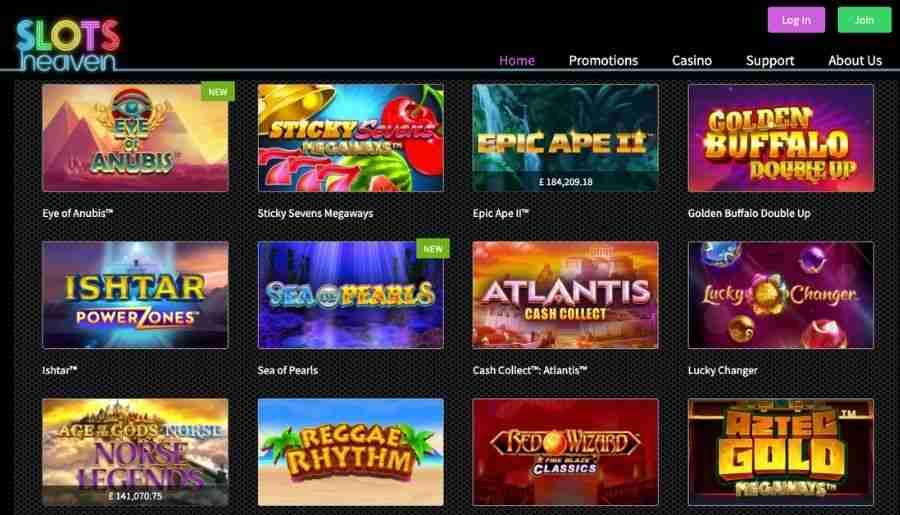 slots heaven casino - games