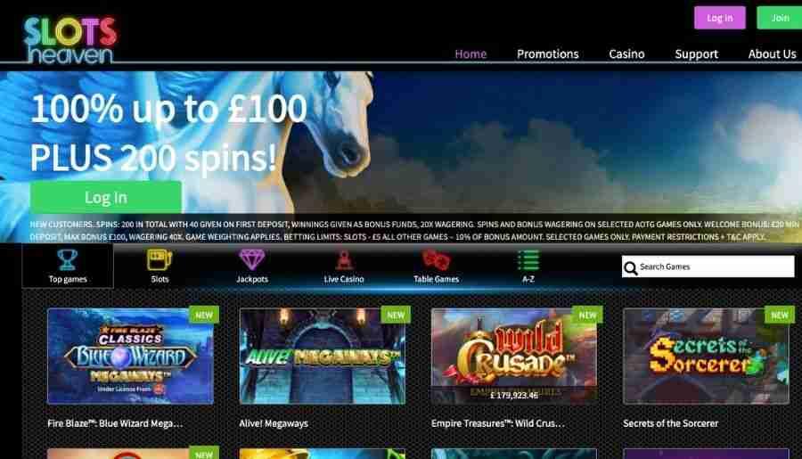 slots heaven casino - homepage