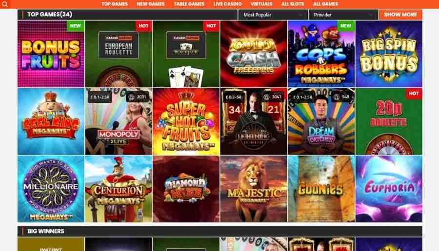 sportnation casino - games