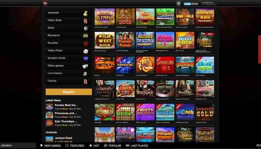 videoslots casino - games