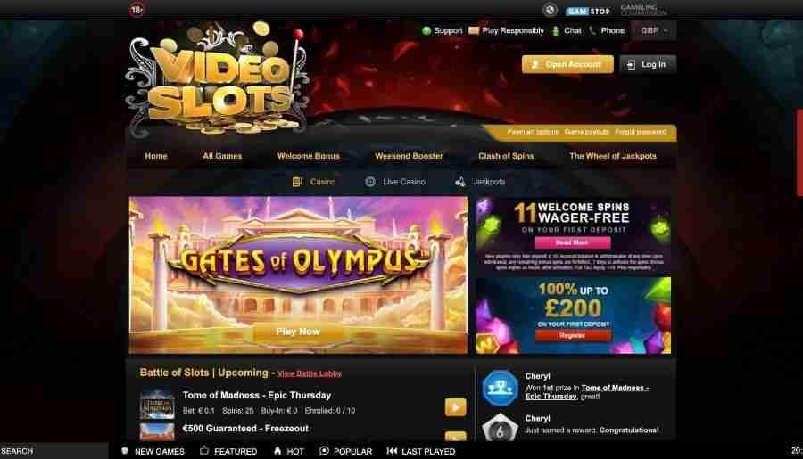 videoslots casino - homepage