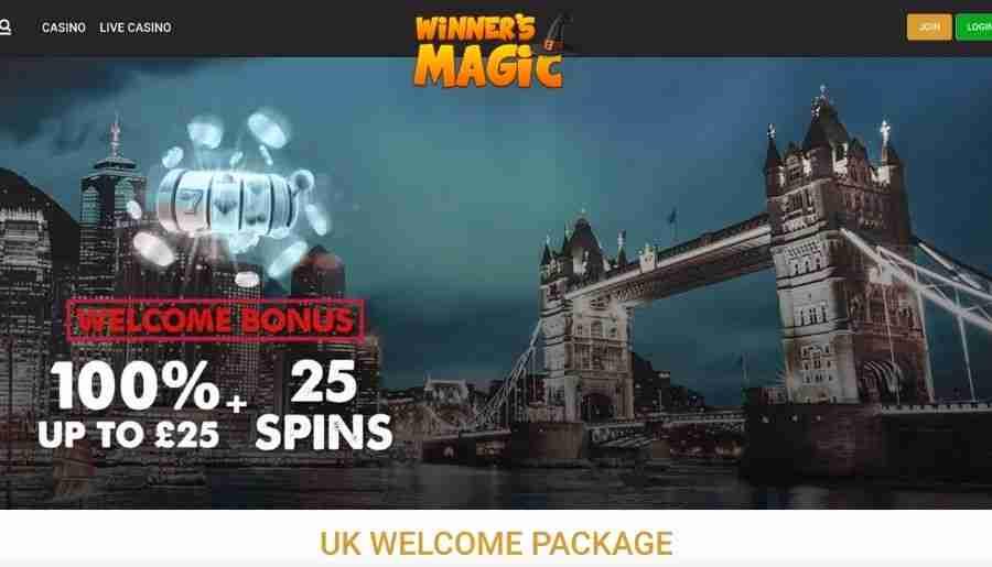 winners magic casino - bonuses